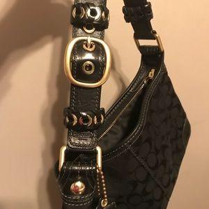 Black Coach Shoulder Bag- Signature